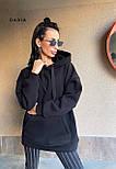 Женское утепленное худи удлиненное с карманом 5504860, фото 2