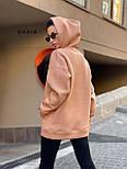 Женское утепленное худи удлиненное с карманом 5504860, фото 6