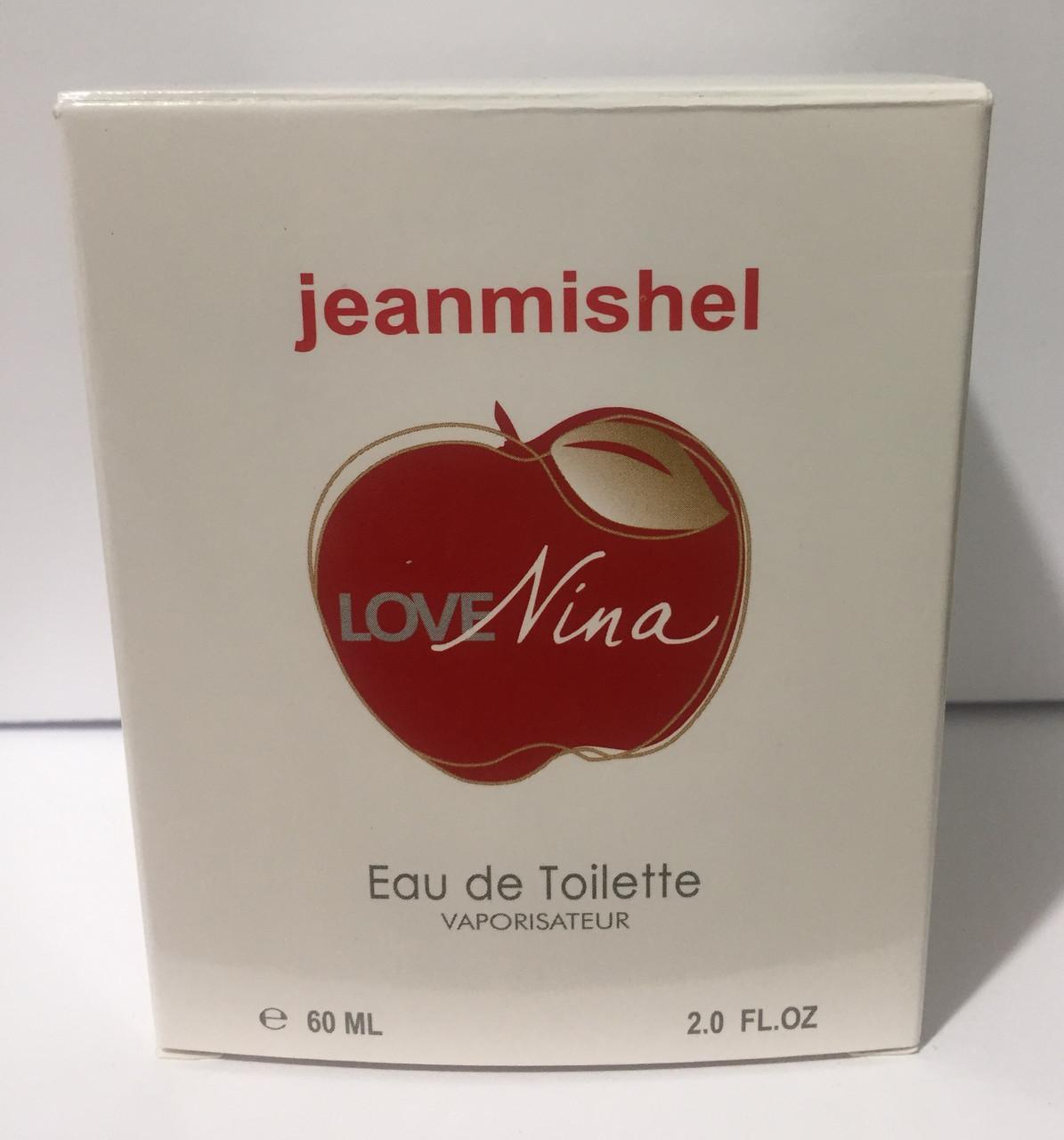 Тестер в подарочной упаковке jeanmishel love Nina 60 мл