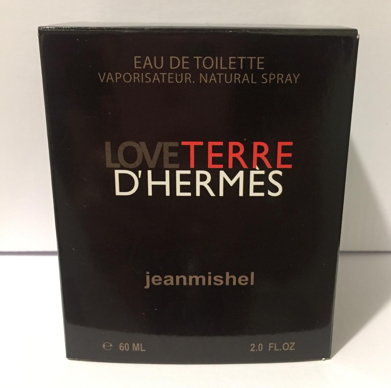 Тестер в подарочной упаковке jeanmishel loveTerre D`Hermes 60 мл
