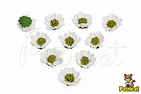 """Маленькие цветочки из латекса (фоамирана) 3 см """"Ромашка"""" 10 шт/уп"""