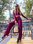 Женский брючный костюм из трикотажа лапши с укроченным гольфом и брюками клеш 36101100, фото 5