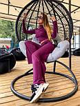 Женский брючный костюм из трикотажа лапши с укроченным гольфом и брюками клеш 36101100, фото 7