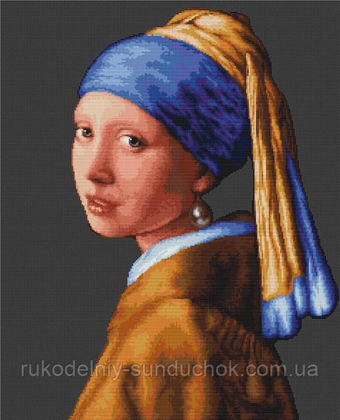 """Набор для вышивания крестом """"Luca-s"""" B467 Девушка с жемчужиной"""