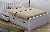 Односпальная кровать с ящиками - Альмерия