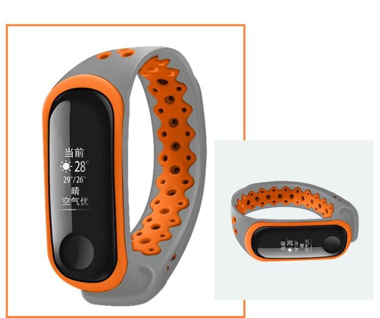 Браслет ремешок JoYBee Bubble для Xiaomi Mi Band 3/4 gray-orange