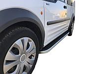 Боковые пороги Tayga (2 шт., алюминий) Стандартная база Ford Connect 2002-2006 гг. / Боковые пороги Форд Транзит Коннект, фото 1