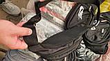 Спортивные сумки бананки на пояс (В ЧЕРНОМ)14*31см, фото 2