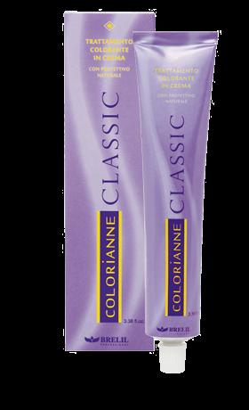 Стойкая крем-краска для волос Colorianne Classic тон 2.2 Тёмно-коричневый ирисовый