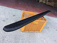 Боковые пороги Bosphore Black (2 шт., алюминий) Nissan Navara/NP300 2016↗ / Боковые пороги Ниссан Навара, фото 1