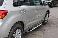 Боковые пороги Line (2 шт., алюминий) Peugeot 4008 / Боковые пороги Пежо 4008, фото 1
