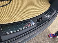 Накладка на задний порог (2 шт, нерж) Land Rover Discovery Sport Ленд ровер Дискавери Спорт