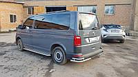 Боковые пороги Premium (2 шт, нерж) 60 мм, длинная база Volkswagen T6 2015↗ гг. / Боковые пороги Фольксваген T6, фото 1