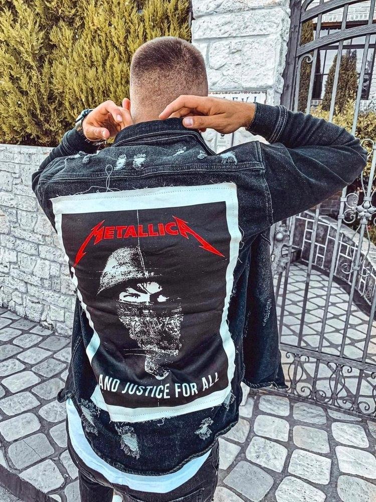 Джинсова сорочка чоловіча темно-сіра Black Island 5627