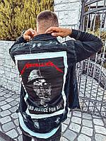 Джинсова сорочка чоловіча темно-сіра Black Island 5627, фото 1