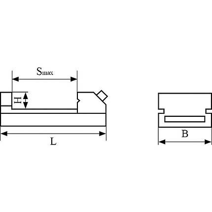 Прецизионные тиски QKG 50   Тиски станочные лекальные Bernardo, фото 2