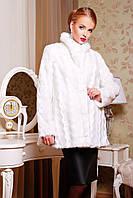 Женская шубка из экомеха белая норка 42-52 размеры