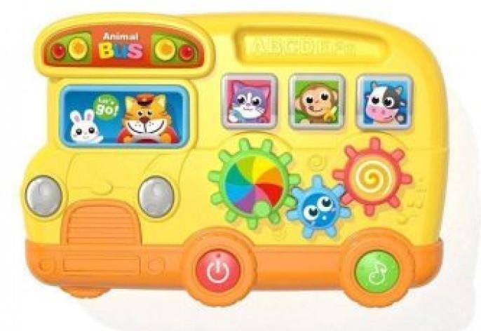 KMWD3749 Муз разв.игрушка  (1453408) батар, автобус,мелкая моторика,в короб.27,5*5,5*20см