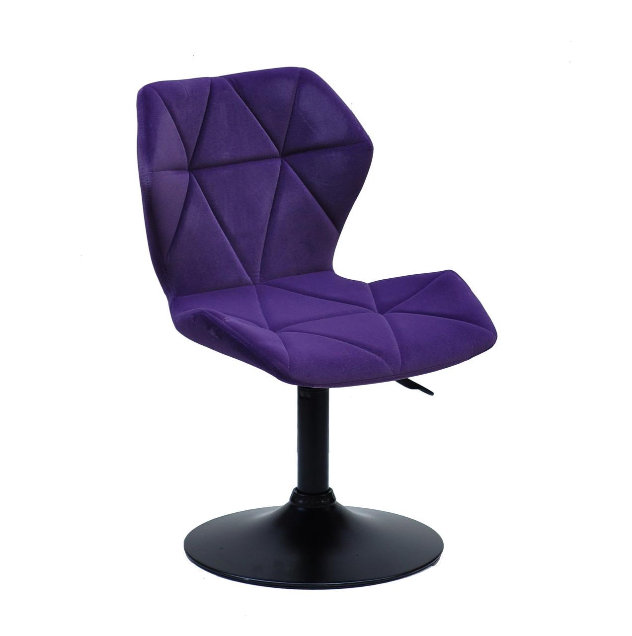 Стул  TORINO  BK- BASE   бархат ,  пурпурный  1013
