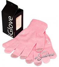 Рукавички iGloves - теплі рукавички для роботи з сенсорними екранами Рожевий