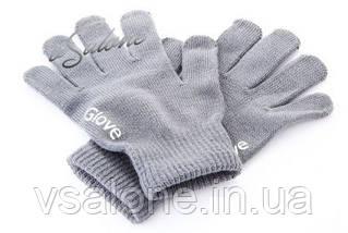 Рукавички iGloves - теплі рукавички для роботи з сенсорними екранами Світло-сірий