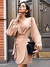 Платье на запах из костюмной ткани с рукавами фонариками 36py1559, фото 4