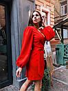 Платье на запах из костюмной ткани с рукавами фонариками 36py1559, фото 5