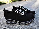 Женские белые кроссовки из натуральной кожи OB5060, фото 3