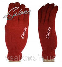 Рукавички iGloves - теплі рукавички для роботи з сенсорними екранами Червоний