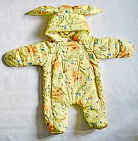 Детский демисезонный комбинезон для новорожденных от 0-1 года, унисекс для мальчиков и девочек
