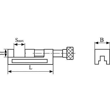 Прецизионные станочные тиски QGG 50 Bernardo, фото 2