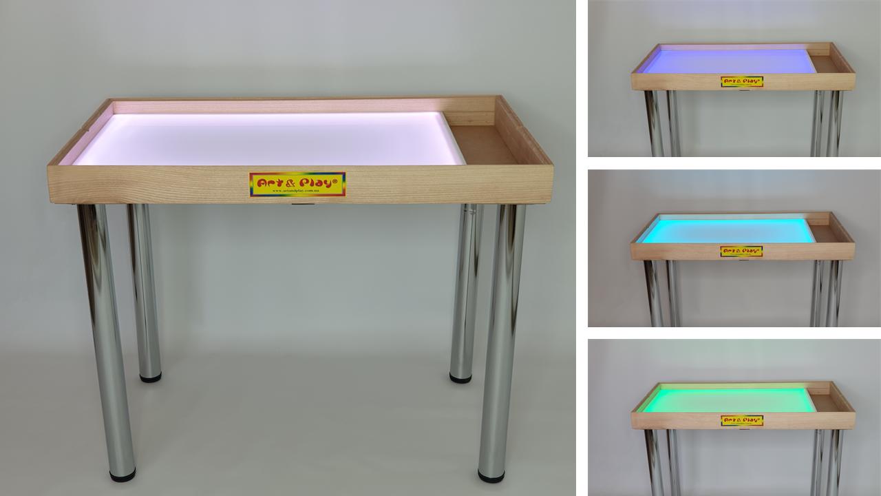 Стіл для малювання піском 100х60см Art&Play® ясен з відсіком для іграшок