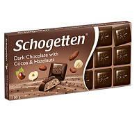 Шоколад Schogetten Dark Chocolate With Cocoa & Hazelnuts, 100 г