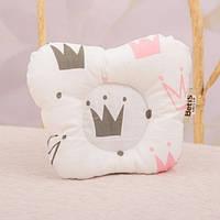 Подушка ортопедична 3+ тм Betis 20*25 (білий/рожевий)
