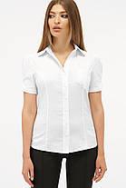 Хлопковая белая женская блузка с коротким рукавом, размер S, M, L, XL, фото 3