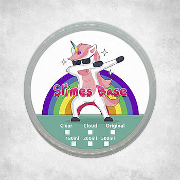 Clear slime-base / Прозрачная база для слаймов. 180 мл