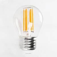 LED лампа HOROZ ELECTRIC FILAMENT MINI GLOBE-4 4W Е27 (шарик) 4200К 450Lm 220V