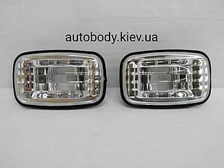 Левый (правый) указатель поворота Тойота Карина II 87-91 на крыле (левый с правым) 2 ШТ белый прозрачный.12v5