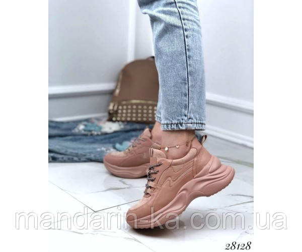 Модные  кроссовки Stilli пудровые