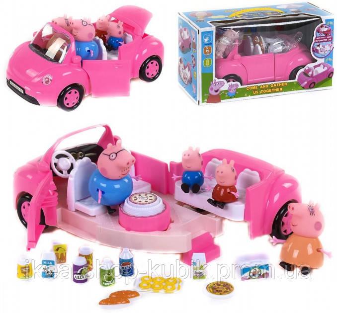Ігровий набір Машинка трансформер Yangguang Toys Factory Свинка Пеппа з героями (YM 11-803)