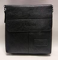 Сумка-планшет ділова через плече чоловіча Kaiman чорна