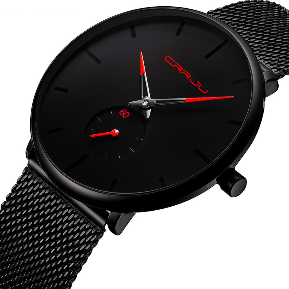 Кварцевые часы CRRJU (black-red)