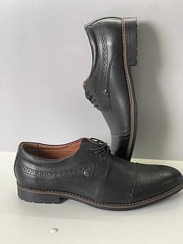 Туфли мужские осенние / Черные классические туфли