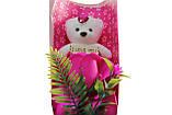 Подарочный набор мыло роза с мишкой 33*10*6 см розовый, фото 2