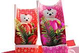 Подарочный набор мыло роза с мишкой 33*10*6 см розовый, фото 6