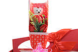 Подарочный набор мыло роза с мишкой 33*10*6 см розовый, фото 9