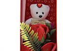 Подарочный набор мыло роза с мишкой 33*10*6 см красный, фото 4