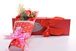 Подарочный набор мыло роза с мишкой 33*10*6 см красный, фото 5