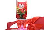 Подарочный набор мыло роза с мишкой 33*10*6 см красный, фото 6