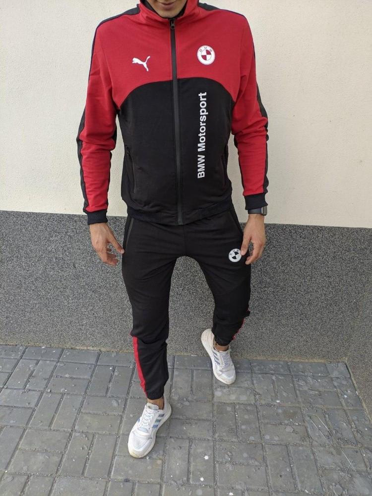 Мужской спортивный костюм Puma BMW Motorsport 21590 красно-черный